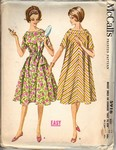 McCalls 5916 Vintage 1961 Dress Housecoat Pattern UNCUT