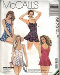 McCalls 6579 Size 12 Flared One Piece Swimsuit Pattern UNCUT