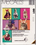 McCalls 661 Pet Costume Headdress Pattern UNCUT