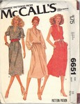 McCalls 6651 Pullover Dress Circa 1970's Pattern UNCUT