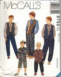 McCall's 6755 Boys Separates Sewing Pattern UNCUT