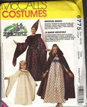 McCalls 6775 Adult Medieval Maiden Costume UNCUT