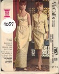 McCalls 7057 Circa 1963 Formal Jacket Dress Pattern UNCUT