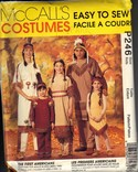 McCalls 7765 Adult Native American Costume Pattern UNCUT