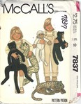 McCalls 7837 Monkey Cat Pattern UNCUT