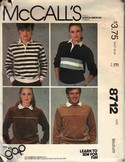 McCall's 8712 Unisex GAP Stretch Knit Top Pattern UNCUT