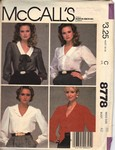 McCalls 8778 Blouse and Tie Pattern UNCUT