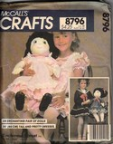 McCall's 8796 Soft Sculpture Doll Pattern UNCUT
