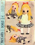 McCalls 9362 Stuffed Doll Vintage Pattern UNUSED