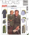 McCalls 9638 Men's Robe and Pajama Pattern UNCUT