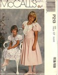 McCalls P213 Girls Party Dress Pattern UNCUT