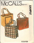 McCalls Sample Tote Bag Pattern 1980 UNCUT