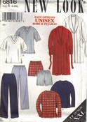 New Look 6816 Unisex Pajama Robe Pattern UNCUT