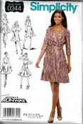 Simplicity 0344 Project Runway Wrap Dress Pattern UNCUT