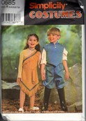 Simplicity 0685 Size A John Smith Pocahontas Costume Pattern UNC