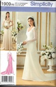 Simplicity 1909 Wedding Gown Bridesmaid Pattern R5 UNCUT