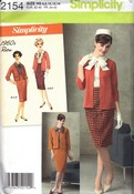 Simplicity 2154 H5 Retro 60's Jacket, Skirt, Blouse Pattern