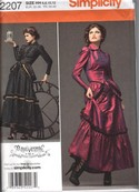 Simplicity 2207 Size HH Steampunk Victorian Dress Pattern