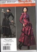 Simplicity 2207 Size RR Steampunk Victorian Dress Pattern