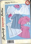 Simplicity 2629 Circa 1948 Reproduction Layette Pattern NEW
