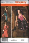Simplicity 2851 Size RR Saloon Girl Costume Pattern UNCUT