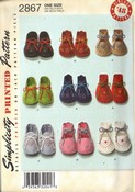 Simplicity 2867 Baby Bootie 1948 Reproduction Pattern NEW