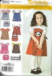 Simplicity 3662 Size A Creative Keepsakes Girls Pattern UNCUT