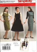 Simplicity 3673 Size R5 1950's Retro Dress Jumper Pattern