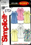 Simplicity 5753 Size A Toddlers Nightgown Pattern UNCUT