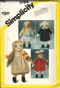 Simplicity 5764 Melissa Victorian Doll Pattern UNCUT