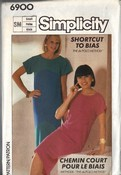 Simplicity 6900 Unique Bias Cut Dress Pattern