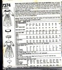 Simplicity 7374 Size N5 Culotte Dress Pattern UNCUT