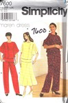 Simplicity 7600 Size BB Maren Dress Pattern UNCUT
