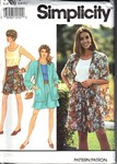 Simplicity 7677 Size BB Shorts Top Jacket Pattern UNCUT
