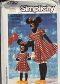 Simplicity 7730 Minnie Mouse Medium Halloween Costume Pattern