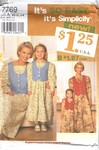 Simplicity 7769 Mother Daughter Pattern UNCUT