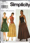 Simplicity 7935 Size P Jessica McClintock Dress Pattern UNCUT