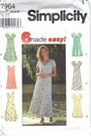 Simplicity 7964 Size P Easy Summer Dress Pattern UNCUT