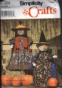Simplicity 8394 Witch Scarecrow Decorative Sewing Pattern