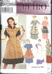 Simplicity 8720 Retro Reproduction Apron Pattern UNCUT