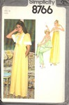 Simplicity 8766 Size 10 Nightgown PJs Robe Vintage Pattern UNCUT