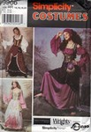 Simplicity 9966 Size RR Gypsy Fantasy Costume Pattern UNCUT