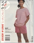 McCalls stitch 'n save 4787 Size B Top Shorts Stretch Knits Patt
