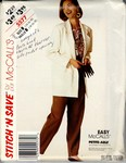 McCalls stitch 'n save 5577 Sz B Jacket Pants Pattern UNCUT