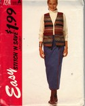 Stitch 'n Save 7214 A Vest and Skirt Pattern