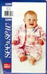 Butterick See & Sew 3299 Infant Jacket Jumpsuit Pattern UNCUT