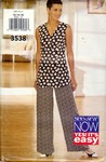 Butterick See & Sew 3538 Top Pants Pattern UNCUT