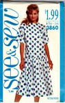 Butterick See & Sew 3860 Summer Dress Pattern UNCUT
