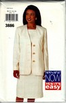 Butterick See & Sew 3886 Dress and Jacket Pattern UNCUT