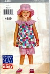 Butterick See & Sew 4489 Girls Top Shorts Hat Pattern